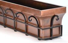 Gar514B H Potter Window Box Flower Garden Planter Antique Copper Finish 48 Inch