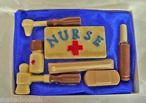 Hand-made Belgian Chocolate Nurses First Aid Medical Kit Gift Box
