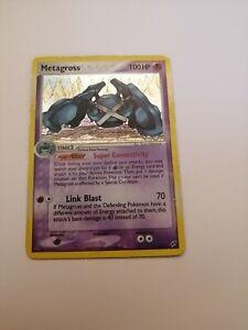 Metagross 11/107 Holo Pokémon Card EX Deoxys MP/HP (Back of card is LP)