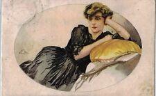ALEARDO TERZI Donnina Elegante Glamour Fashion PC Italy Viaggiata 1918