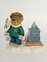 Cherished Teddies - James - Boy Pulling Sled Figurine - 269786 - 1997