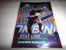 "RAEKWON McMILLAN, DOLPHINS 2017 DONRUSS RC PURPLE BORDER ""STAT LINE"" 381=084/102"
