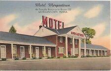 Motel Morgantown, Morgantown PA Roadside Postcard