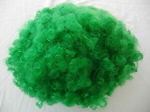 Green Color Curly  Short Clown Party Wig Halloween Costume Accessory Adult
