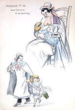 Lithographie originale de Sem, Monsieur F.W en exercice