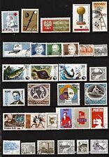 94T4 POLOGNE 30 timbres obliteres, usages courants,sujets divers