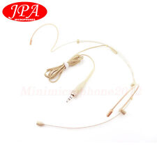 Skin Color JPA Dual Headset Mics Headworn For NADY(3.5mm Plug) Wireless Mic Set