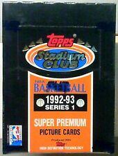 1992-93 Topps Stadium Club Basketball Hobby 1 Factory Sealed Box Stars Jordan??