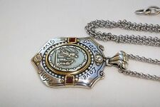 New Altered Brighton Devotion Crest  Silver &Crystal Pendent Long Chain Necklace