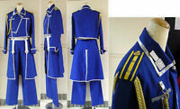 FullMetal Alchemist Cosplay Roy Mustang Uniform Costume Custom Any Size