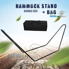 Heavy Duty Double Hammock Stand Outside Steel Frame Easily Assembled Bag AU