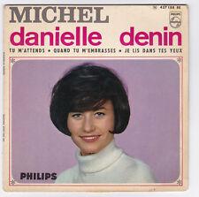 EP 45 TOURS DANIELLE DENIN MICHEL PHILIPS 437 188 en 1966 BIEM