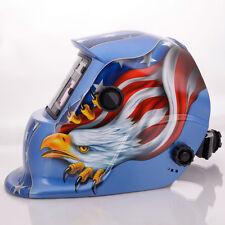 New Solar Auto Darkening Welding Helmet Arc Tig Mig Mask Grinding Welder Blue