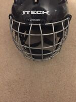 Itech Fly Weight Z262.1 Hockey Helmet Size 6-6 3/4 (48.5-54cm) With Bauer Mask