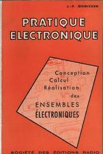 Livre Pratique Electronique : Conception Calcul Réalisation CAPTEUR - Oehmichen