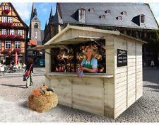 Marktstand Verkaufsstand 16mm Gartenhaus KDI Holz Stand 300x250cm inkl. Fußboden