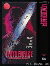 RCA Columbia VHS Leatherface Texas Chainsaw Massacre 3 1990 Horror Slasher Cult