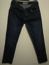 B31 ) MENS NEXT BLUE STRAIGHT FIT JEANS  ZIP FLY   W 34 LEG 27