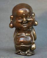 8.8 « vieux feng shui se rire heureux maitreya bronze statue de bouddha riche