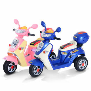 Electric Ride on Toy Car Kids Motorbike Children Motorcycle Tricycle Safe 6V