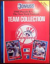 1988 Donruss NY Yankees Team Collection Uncut Card Set ShopTradingCards.com