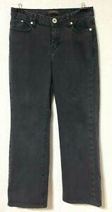 "Christopher Blue womens denim jeans, black, straight leg, 29"" inseam, size 8"