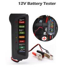 12V Digital Battery Alternator Tester 6LED Display Volt Check For Motorcycle Car