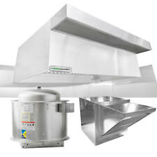 "HoodMart 4'x48"" Type 1 Commerical Kitchen Hood System w/ Psp Makeup Air"