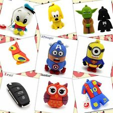 Pendrive 32 GB animados, musicales,minions, Messi, Hello Kitty, llaves audi