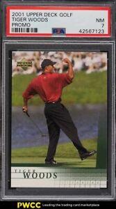 2001 Upper Deck Golf Promo Tiger Woods ROOKIE RC PSA 7 NRMT