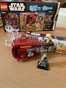 Lego Rey's Speeder (75099) USED / Built Once - Displayed Only **99p Start NR**