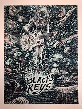 The Black Keys Poster Miles Tsang 2013 Canadian Festival Tour Glow In The Dark