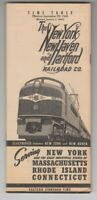 [70132] 1946 NEW YORK, NEW HAVEN & HARTFORD RAILROAD PASSENGER TIMETABLE