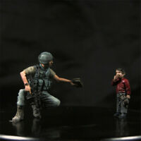 1/35 US Soldier and Kid Resin Model Kits Unpainted GK Unassembled