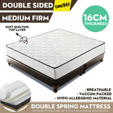 DOUBLE Top Cover Medium Mattress Firm Spring Foam Soft Quilting Bedding