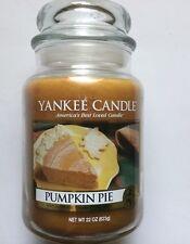 Yankee Candle PUMPKIN PIE 22 oz LARGE JAR HTF SCENT HOLIDAY FAVORITE