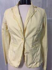J. Crew Women's Jacket Yellow Chino Classic Twill 1 Button Cotton Blazer Size 4