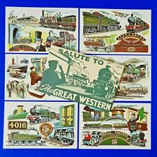 More details for very rare set of 6 dalkeith postcards salute to the great western railway gwr