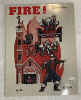Vintage Puckerbrush Fire Cross Stitch Charts Leaflet Firefighter Engine pb 16