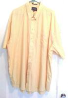 Classics Falcon Bay Sportswear Men's Shirt Size 3XLT Yellow Machine Washable