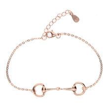 Rose Gold Snaffle D Bit Bracelet