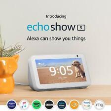AMAZON Echo Show 5 (2019) Compact Smart Display Alexa - White - FREE & FAST P&P
