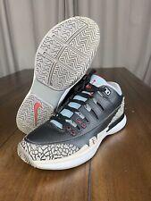 Roger Federer Nike Air Jordan AJ3 Black Cement Mens Size 10 709998-010 RF Tennis
