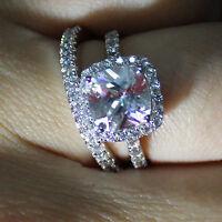 2.00Ct Solitaire Diamond Engagement Ring Set 14k White Gold Cushion Cut VVS1/D