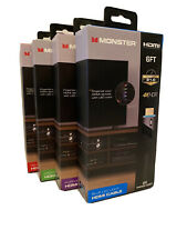 Monster HDMI Cable 4K HDR Ultra HD Gold 60Hz 21.0 Gbps 6FT LED Color Lighted NEW