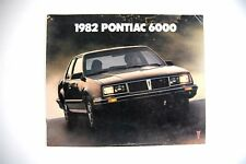 Pontiac 6000 1982 12 page factory sales brochure
