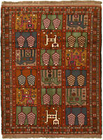 """Hand-knotted Turkish Carpet 3'8"""" x 5'0"""" Izmir Traditional Wool Rug"""
