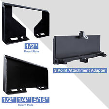 3 Point Adapter Quick Attachment Mount Plate 1214516 For Kubota Skidsteer