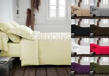 100% Egyptian Cotton Duvet Cover With Pillow Case 300TC Bedding Set All Sizes