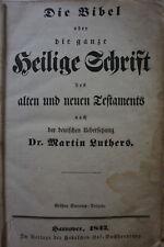 Antike Bibel Heilige Schrift Hannover 1842 nach  Martin Luther